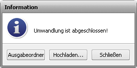 "Fenster ""Information"""