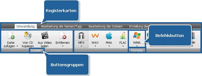 """AVS Audio Converter - Registerkarte """"Umwandlung"""""""