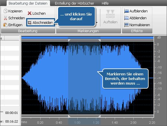 Tonbearbeitung - Abschneiden