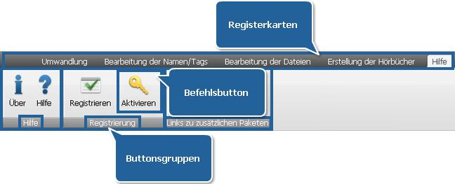 """AVS Audio Converter - Registerkarte """"Hilfe"""""""