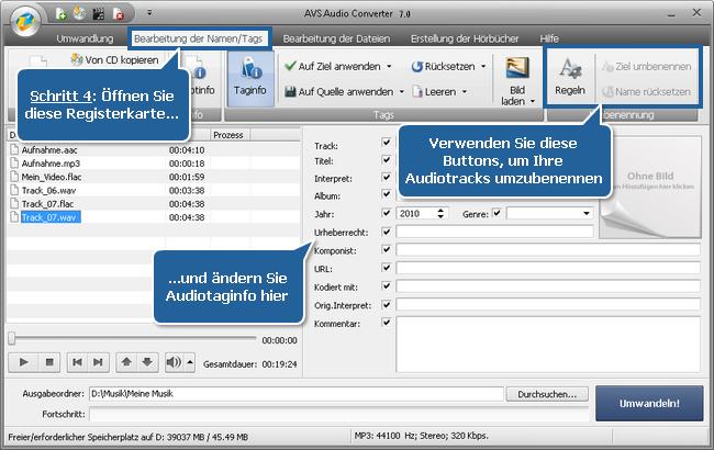 Arbeit mit dem AVS Audio Converter - Schritt 4
