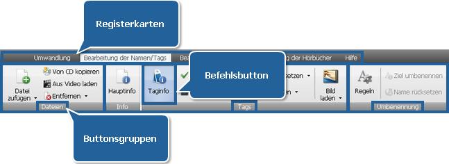 """AVS Audio Converter - Registerkarte """"Bearbeitung der Namen/Tags"""""""
