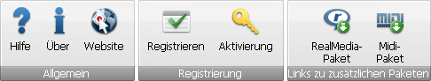 "AVS Audio Editor - Registerkarte ""Hilfe"""