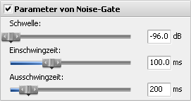 Parameter von Noise-Gate