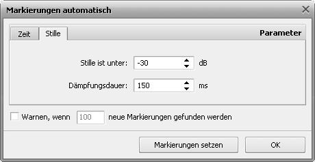 Fenster Markierungen automatisch