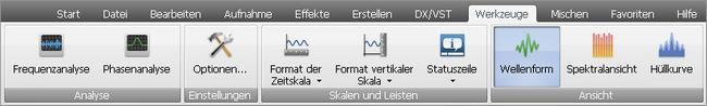 """AVS Audio Editor - Registerkarte """"Effekte"""""""