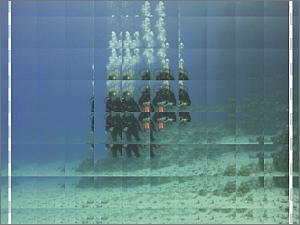Nach der Anwendung des Effekts Glasziegel
