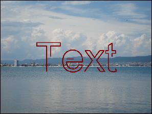 Nach der Anwendung des Effekts Textschreiben