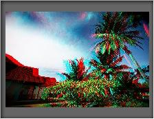 Nach der Anwendung des Effekts 3D-Anaglyphenbild
