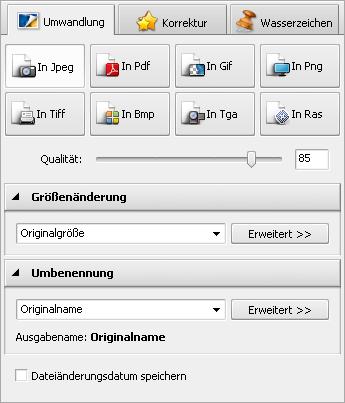 AVS Image Converter - Registerkarte Umwandlung