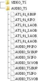 Struktur einer DVD-Audio-Disk