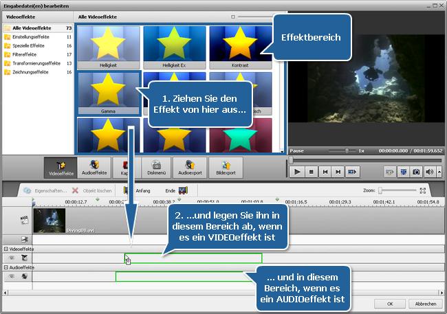 Anwendung der Audio-/Videoeffekte