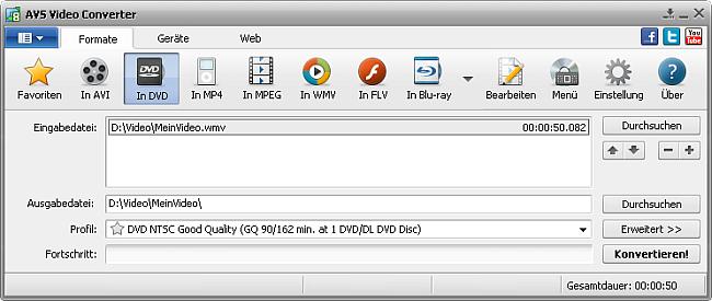 Hauptfenster In DVD