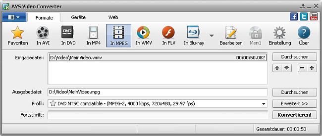 Hauptfenster In MPEG