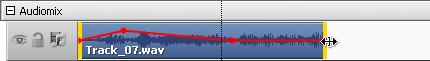 Änderung der Dauer des Audiotracks auf der Zeitachse