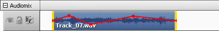 Hüllkurve eines Audiotracks