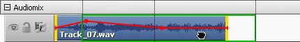 Änderung der Position des Audioeffekts im Video