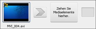 Zeichen des Videoeffekts auf dem Storyboardbereich