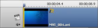 Zeichen des Videoeffekts auf dem Zeitachsebereich