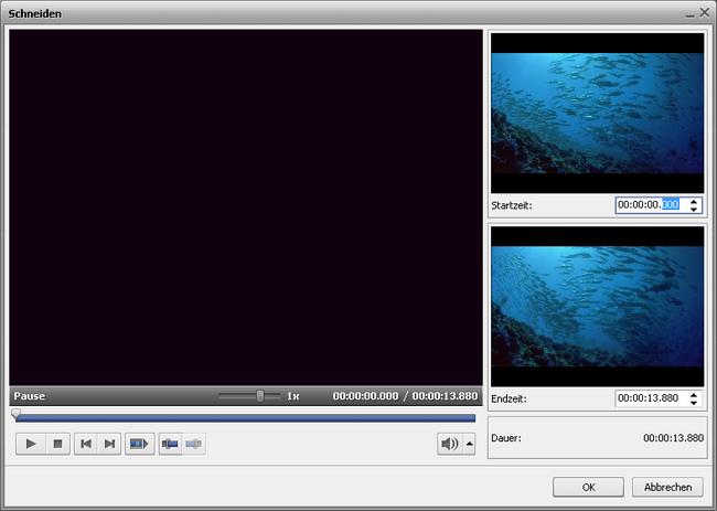 Änderung der Dauer der Videoüberlagerung auf der Zeitachse