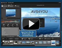 AVS Photo Editor. Sehen Sie die Videopräsentation