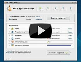 AVS Registry Cleaner. Sehen Sie die Videopräsentation