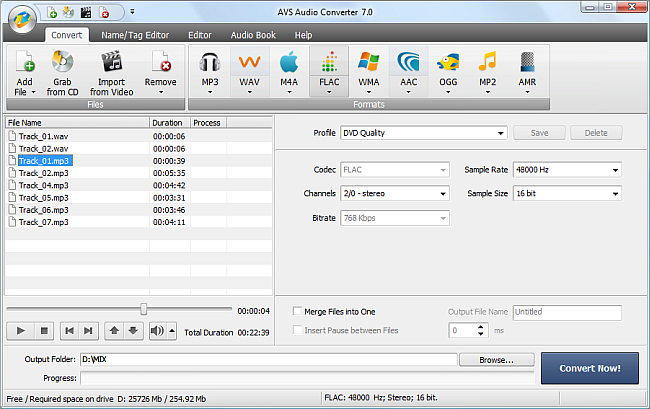 AVS Audio Converter - Converting to FLAC Format