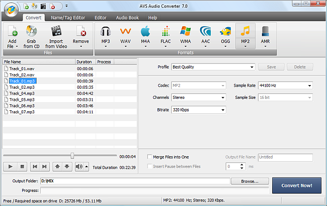 avs4you gtgt avs audio converter gtgt converting to mp2 format