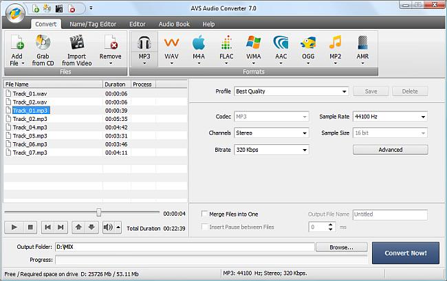 AVS Audio Converter - Converting to MP3 Format