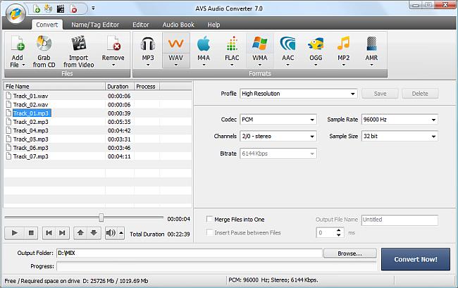 AVS Audio Converter - Converting to WAV Format