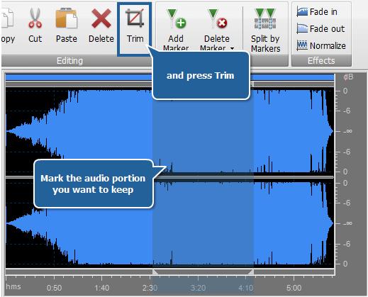 Editing Audio - Trimming