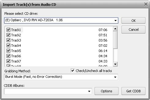 AVS Audio Convertr - Grabbing audio CDs