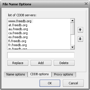 AVS Audio Converter - File Name options window
