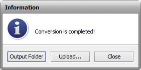 Working with AVS Audio Converter - Information window