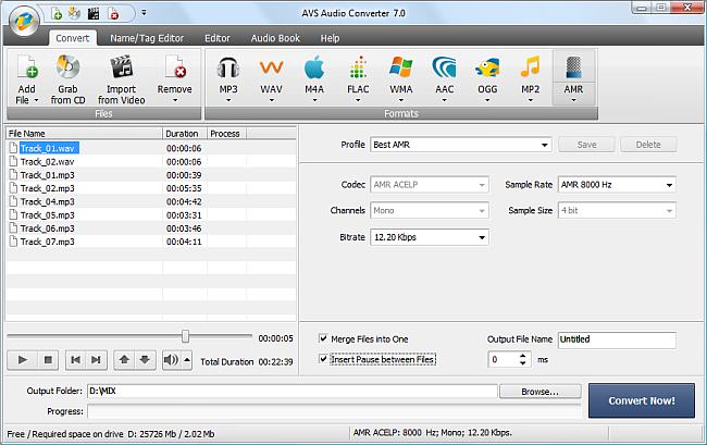 AVS Audio Converter - Merging Audio Files