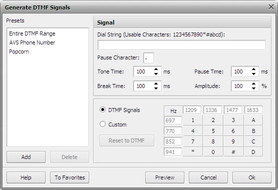 Generate DTMF Signals