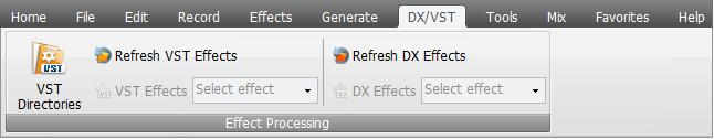AVS Audio Editor - DX/VST Tab