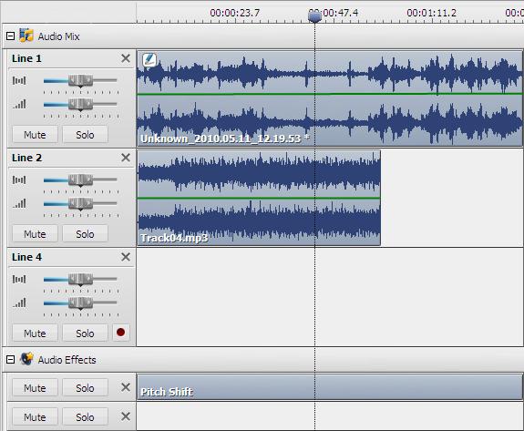 Mix Timeline
