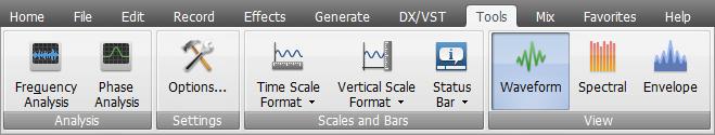 AVS Audio Editor - Tools Tab