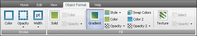 object Format Tab