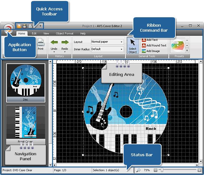 AVS Cover Editor main window