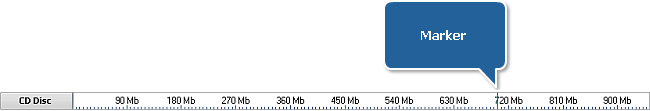 Disc Size Meter if CD disc is inserted