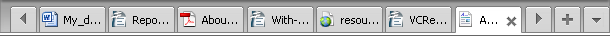 Preview Area - Tab Toolbar