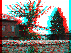 After applying the Anaglyph 3D effect