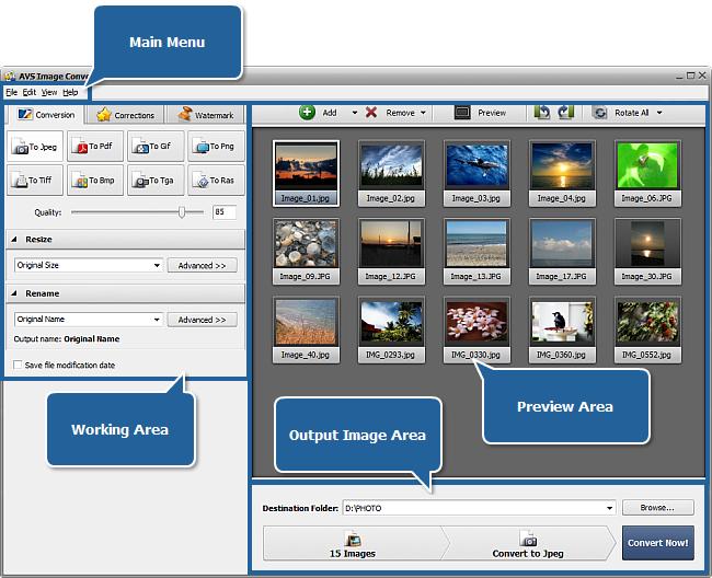 AVS Image Converter main window