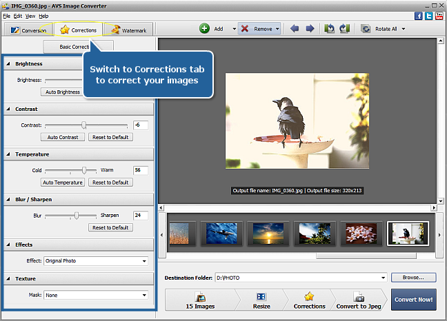 Working with AVS Image Converter: Step 4
