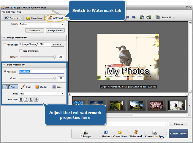 Working with AVS Image Converter: Step 5