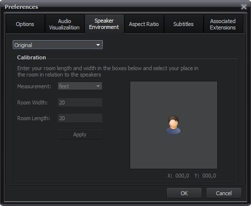 Speaker Environment tab