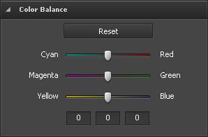 Color Balance section