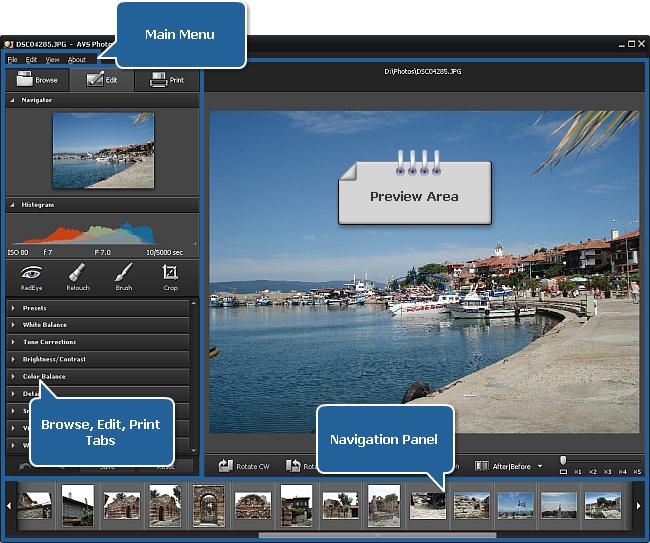 AVS Photo Editor window
